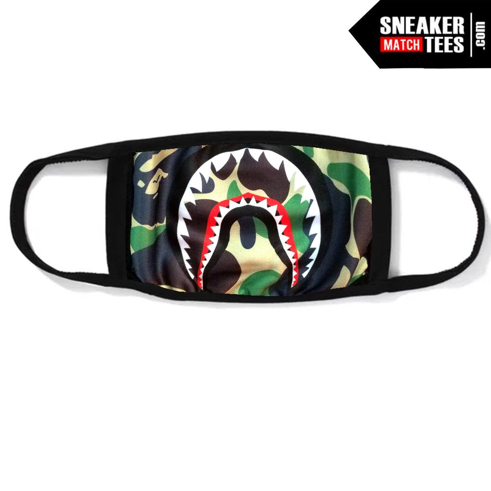 Bape Mask Camo Green Bape Shark Teeth