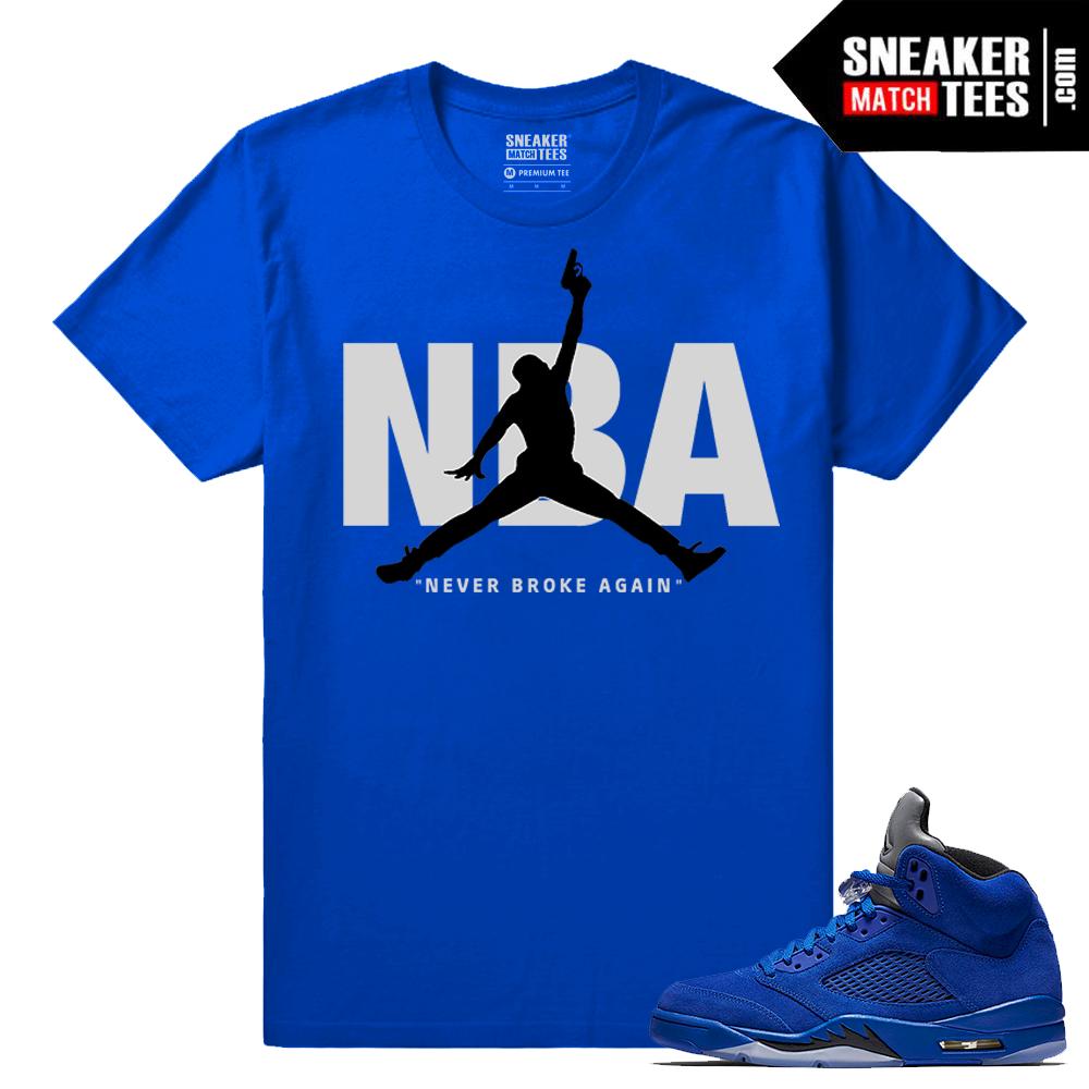 promo code 98fa4 e72b1 Blue Suede 5s Shirt