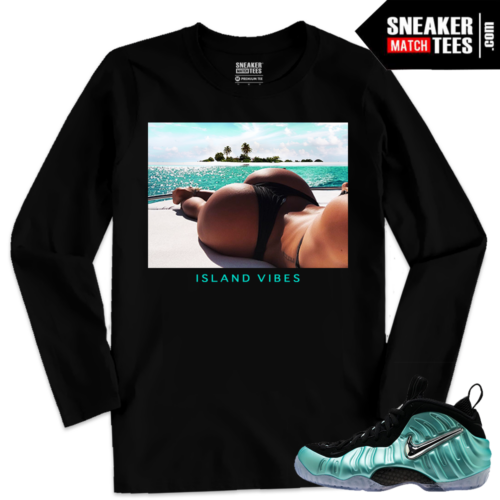 Foamposites sneaker tees Long Sleeve Island Green Foams