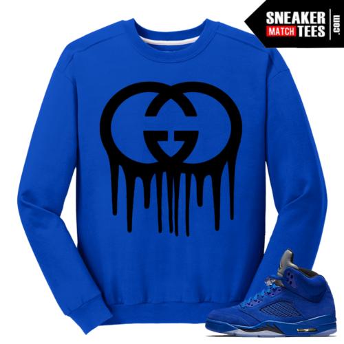 Gucci Drip Blue Suede 5s Crewneck