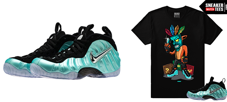 bdff4fd6f1032 Shirts to Wear with Nike Foamposite Island Green sneakers