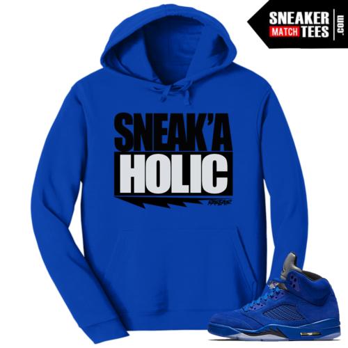 Jordan 5 Blue Suede Hoodie to Match