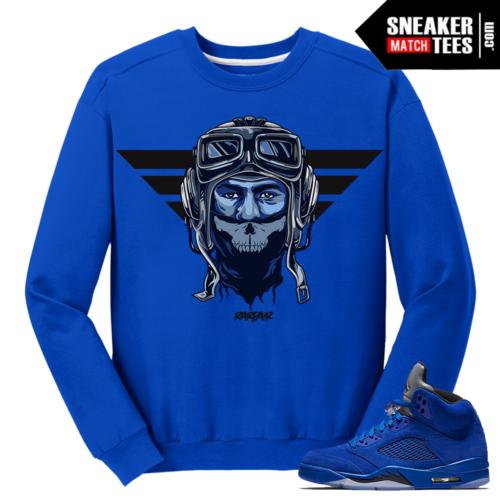 Jordan 5 Blue Suede Match Crewneck