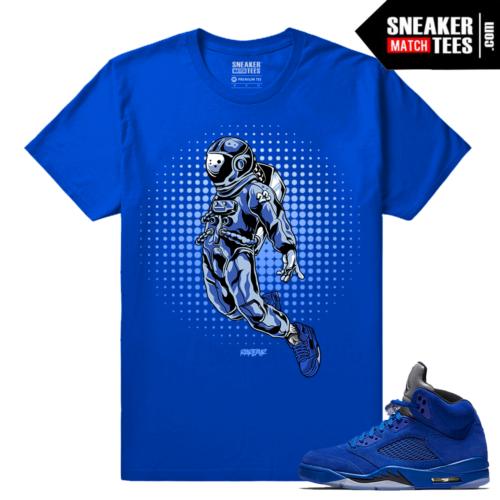 Jordan 5 Blue Suede Sneaker tees