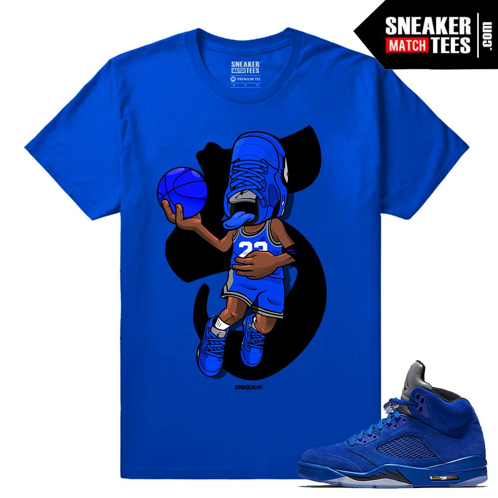 Jordan 5 Blue Suede Sneakers - Sneaker