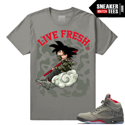 Jordan 5 Camo Shirt matching sneakers