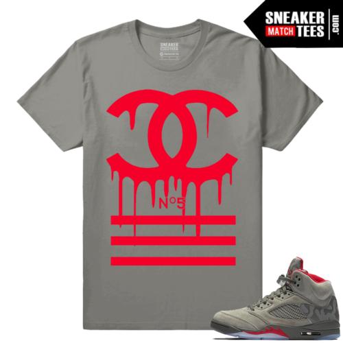 Jordan 5 Camo Shirts Sneaker tees