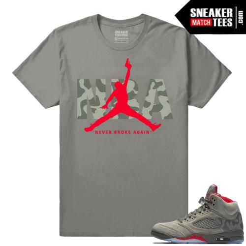 Jordan 5 Camo Sneaker tees