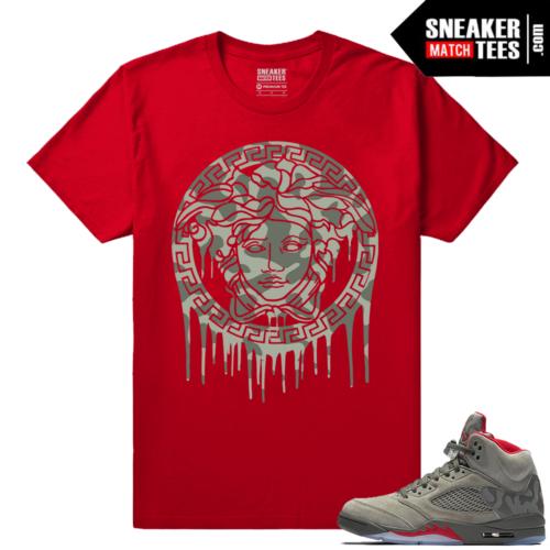 Jordan 5 Camo Sneaker tees match Jordans