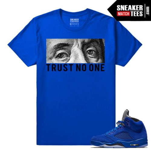 Jordan 5 Shirt Blue Suede