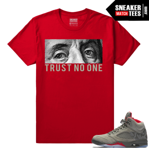 Jordan 5 Sneaker tee shirt Trust No One