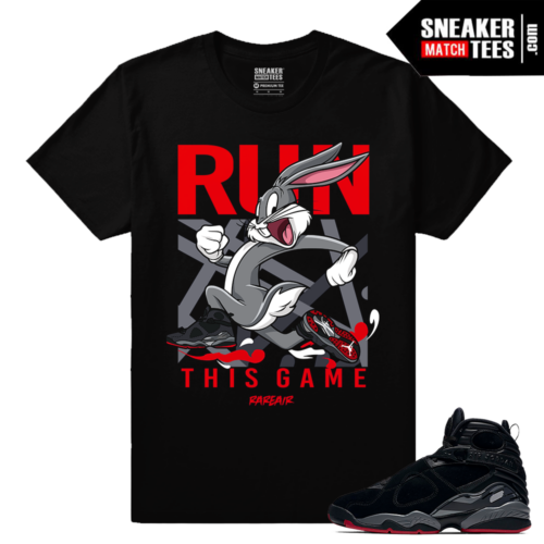 Jordan 8 Bred Run This Game T shirt