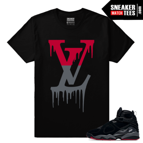 Jordan 8 Bred LV Drip T shirt