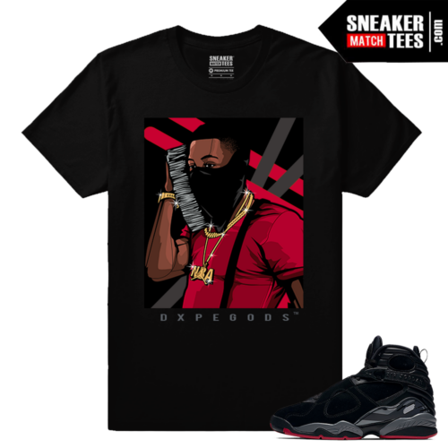 Jordan 8 Bred Matching Sneaker tees