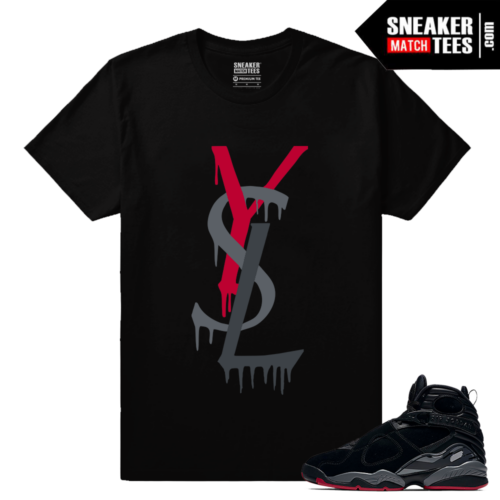 Jordan 8 Bred Sneaker Match Shirts