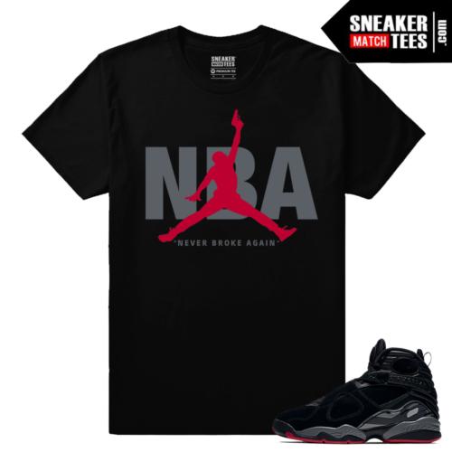 Jordan 8 Bred Sneaker Match T shirt