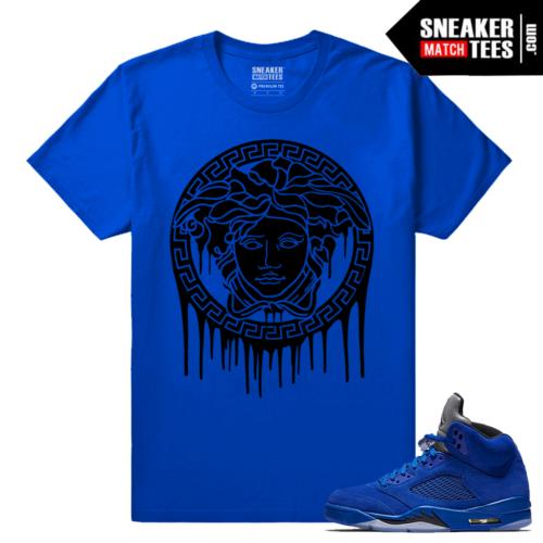 Jordan Retros Sneaker tees Blue Suede 5s