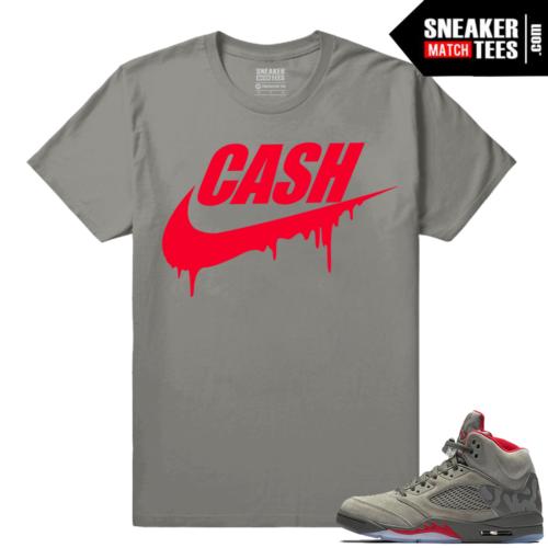 Match Jordan 5 Camo Sneaker tees