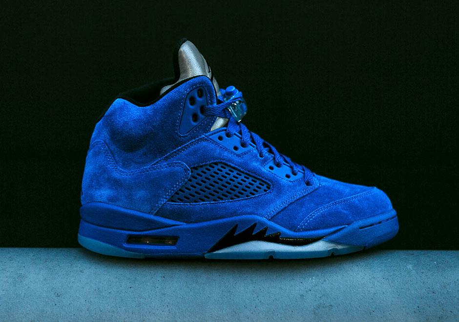 e1aba190dfe9 New Jordans Releasing This Weekend Air Jordan 5 Blue Suede