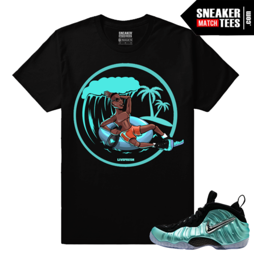 Nike Foamposites Island Green Foams Shirts