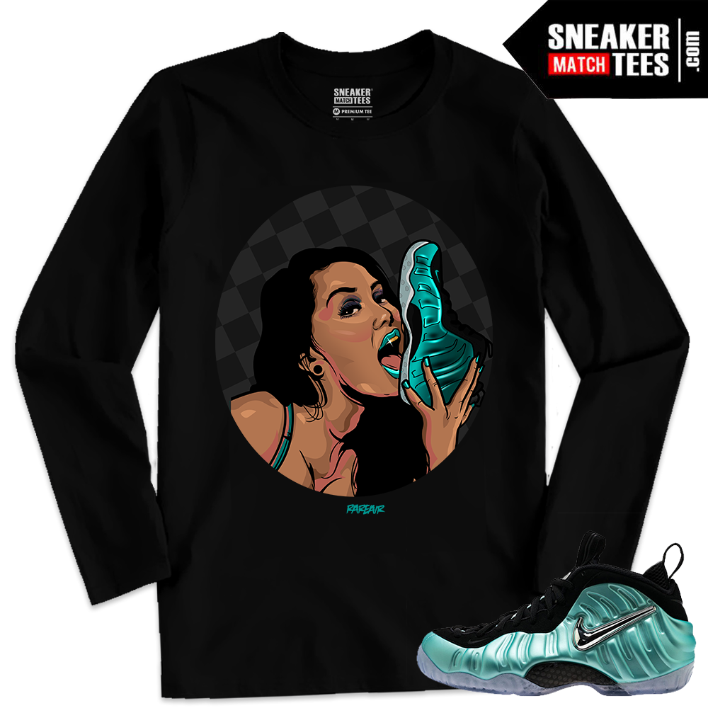 996ae4ca785c1 ... Nike Foamposites Shirts matching Island Green Foams Long Sleeve ...