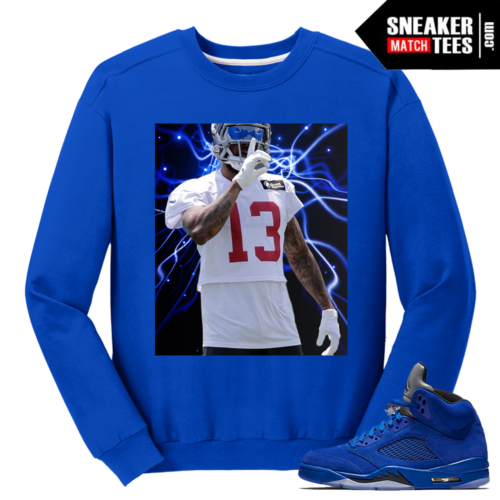 Odell Beckham Jr Blue Suede 5 Sweatshirt