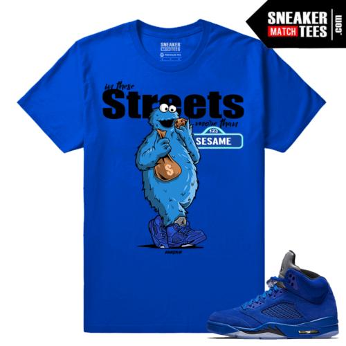 Shirts Jordan 5 Blue Suede