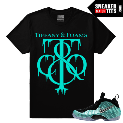 Sneaker matching shirts Foamposite Island Green