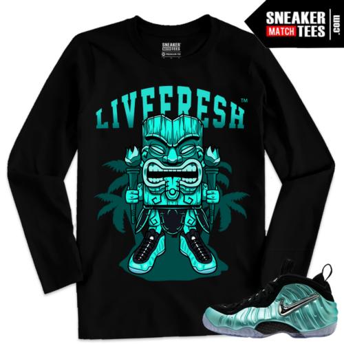 Streetwear Sneaker tees Match Island Green Foams