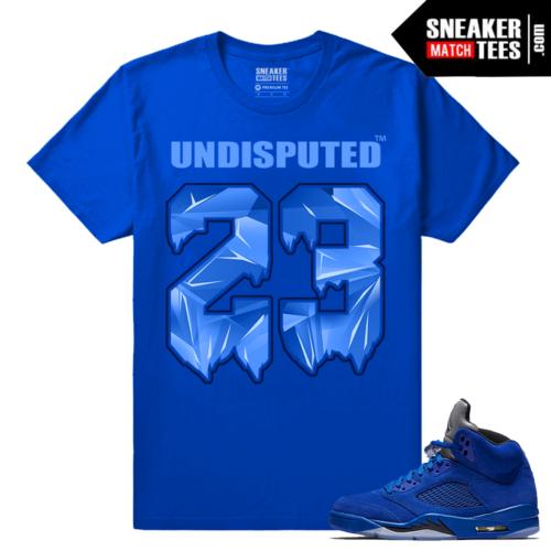 T shirt Jordan 5 Blue Suede