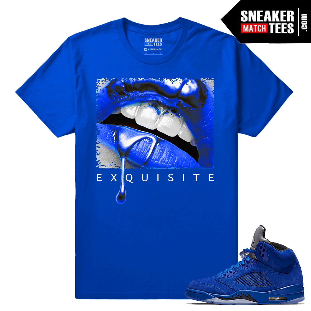Blue Suede 5 Jordan Exquisite Lips Royal T Shirt Sneaker