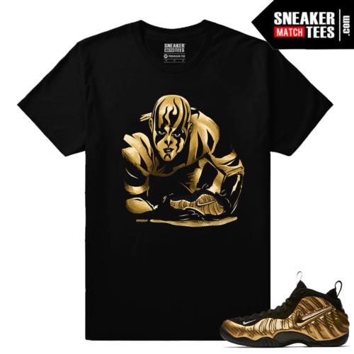 Gold Foamposites Gold Lust Black Sneaker tees