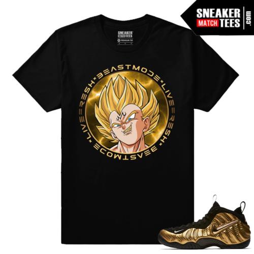Gold Foamposites Beast Mode Vegeta Black Sneaker tees