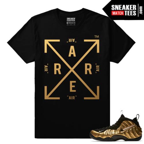 Gold Foamposites Rare Air Box Arrows Black Sneaker tees