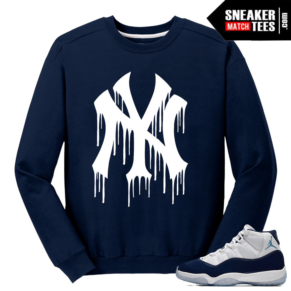 7b708338d46 ... Jordan 11 Win Like 82 Navy Sweater NY Drip Chicago Bulls Ugly Holiday  Sweaters to Match the Air ...