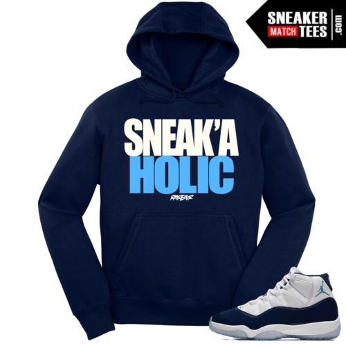 Jordan 11 Midnight Navy Hoodie Sneakaholic