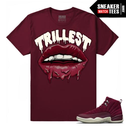 Jordan 12 Bordeaux Sneaker Tees Shirt
