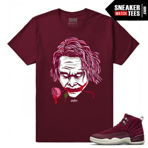 Jordan 12 Bordeaux sneaker shirt