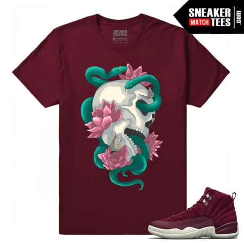 Jordan 12 Sneaker Match Bordeaux Tees