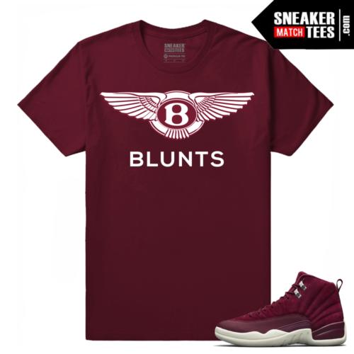 Jordan Retro 12 Bordeaux Sneaker tees