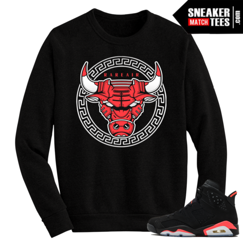 Infrared 6s Black Crewneck Sweater Bullsace