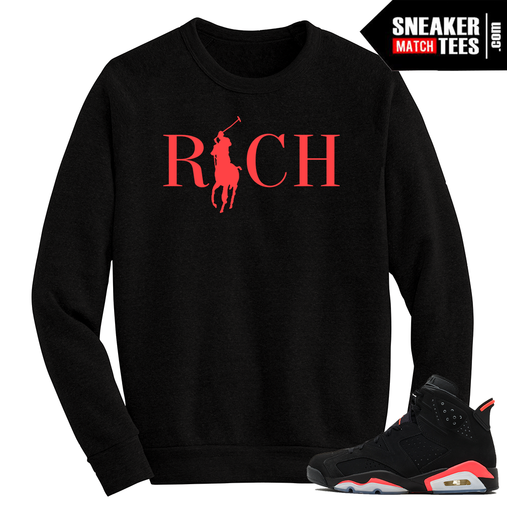 Infrared 6s Crewneck Sweater Country Club Rich