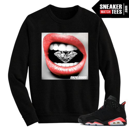 Infrared 6s Crewneck Sweater Diamond Lips