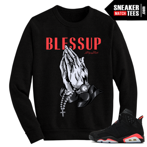 Infrared 6s crewneck sweater Black Blessup