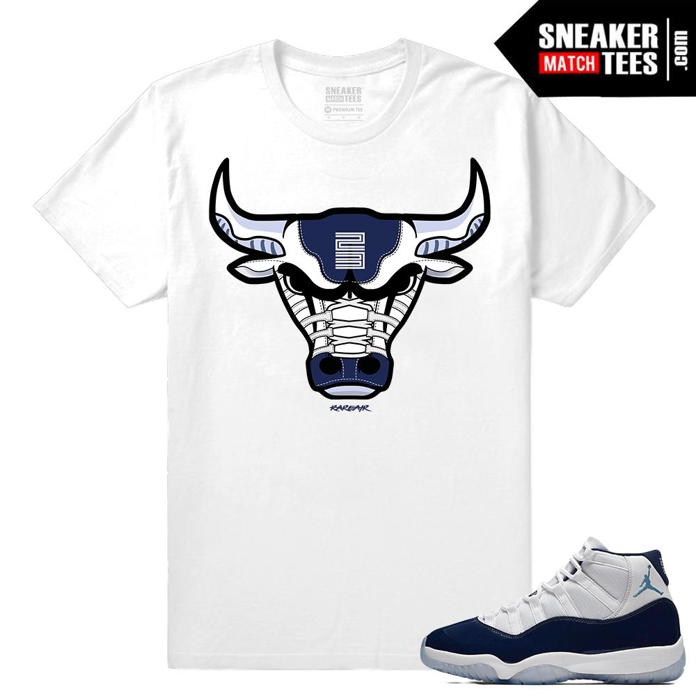 37ebe9ccc768b9 Jordan 11 Midnight Navy 11 T shirt Rare Air Bull WIN LIKE 82 T-Shirt to match  Jordan ...