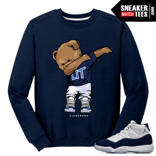 Jordan 11 Midnight Navy Crewneck Sweater Dabbin Polo Bear
