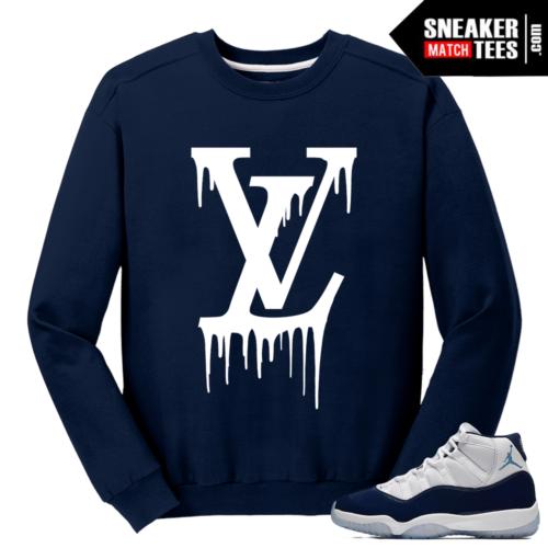 Jordan 11 Midnight Navy Crewneck Sweater LV Drip