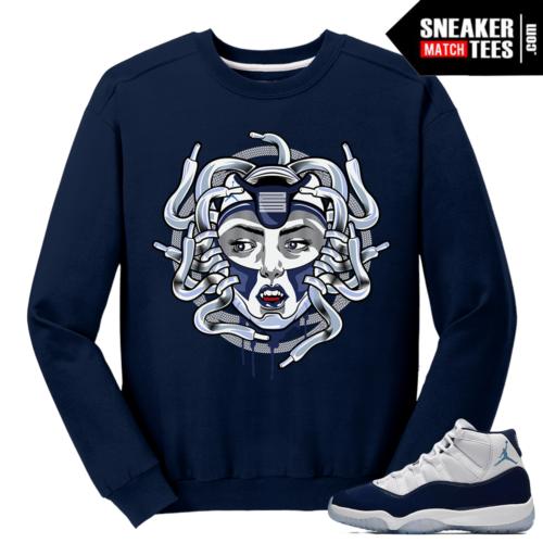 Jordan 11 Midnight Navy Crewneck Sweater Medusa 11