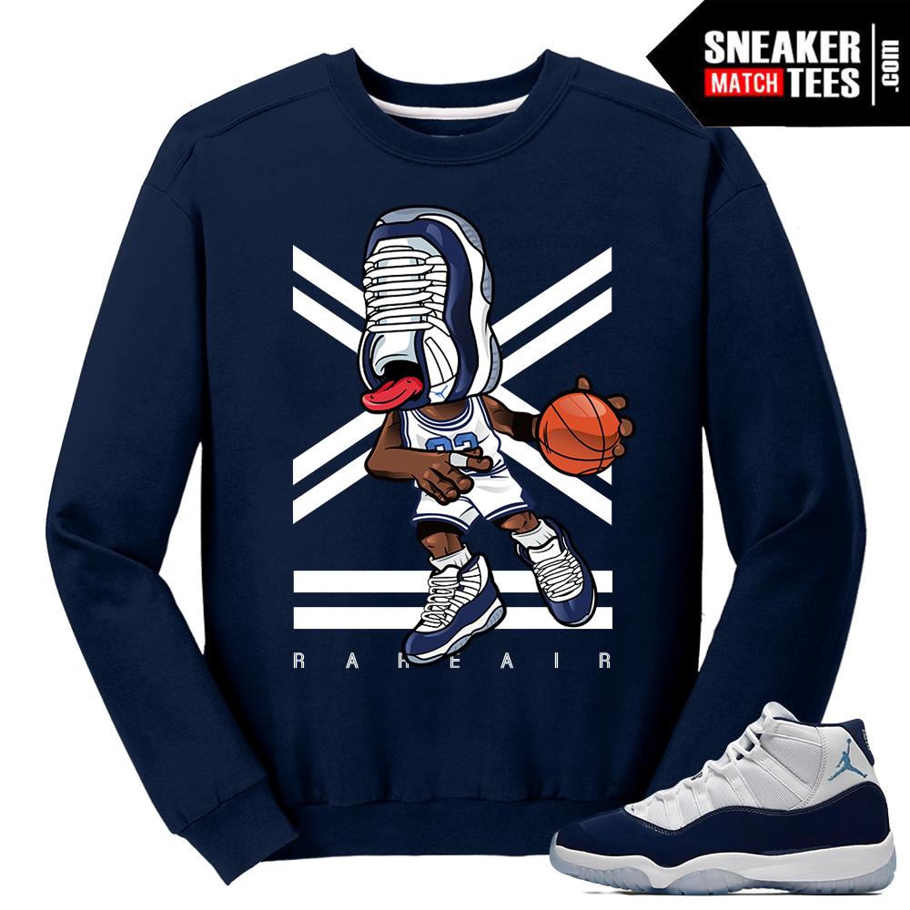 3706f13fa22dbc Jordan 11 Midnight Navy Crewneck Sweater Sneakerhead 11