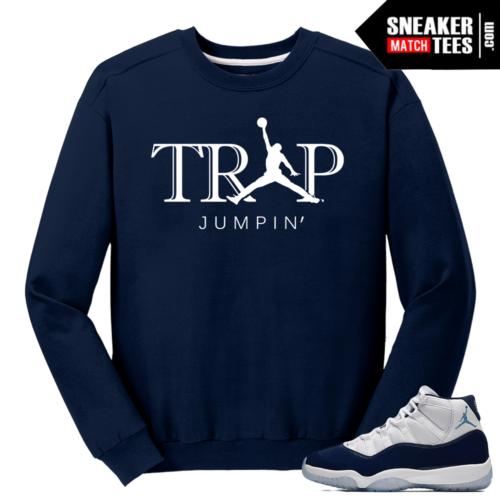 Jordan 11 Midnight Navy Crewneck Sweater Trap Jumpin
